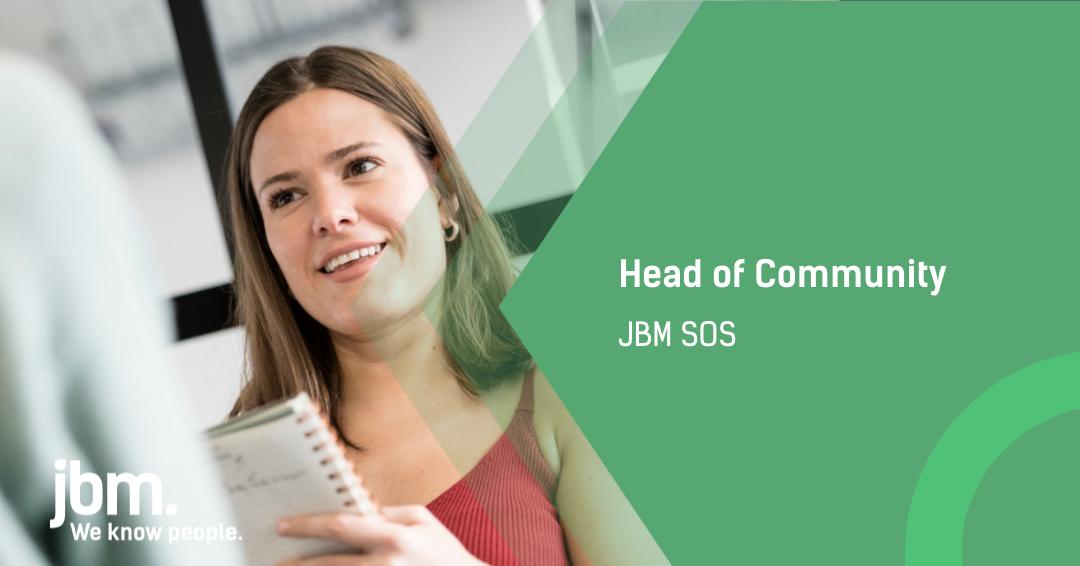JBM SOS Head of Community